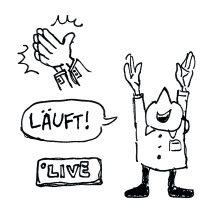 """Graphic Recording Moderator Dr. Claus Hartmann: """"Wir sind live!"""" (@ HAW)"""